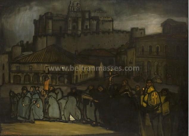 Procesión de Viernes Santo en Turegano, 1914