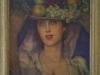 Mujer con sombrero frutal