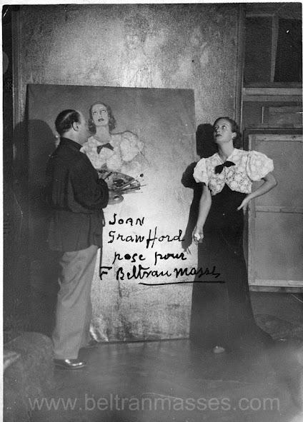 Beltran Masses pintando Joan Crawford